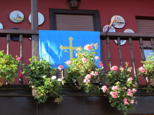 flag on balcony