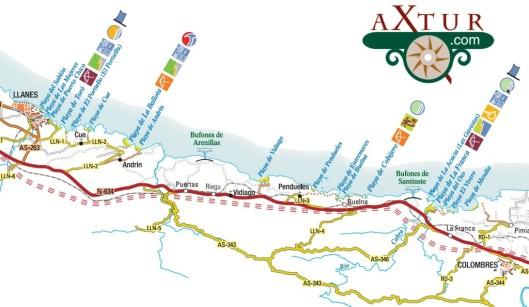 mapa-playas-asturias-llanes-colombres