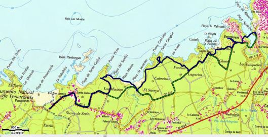 mapa tapia de casariego peñaronda