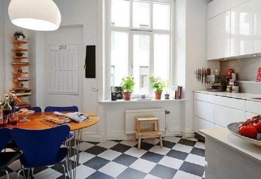Small-Scandinavian-Kitchen-Designs-with-Black-White-Floor-Tile-07