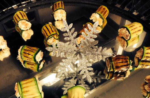 christmas courgette-canape
