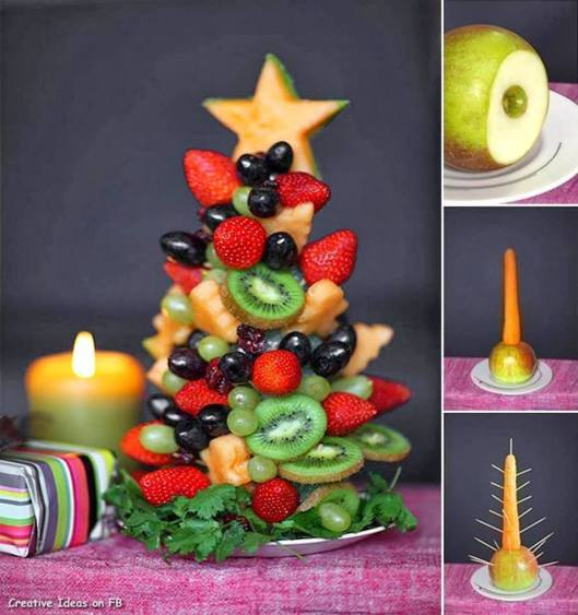 christmas tree of fruit